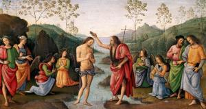 The Baptism of Christ, from the Convent of San Pietro, Perugia, 1496-98 by Pietro Perugino