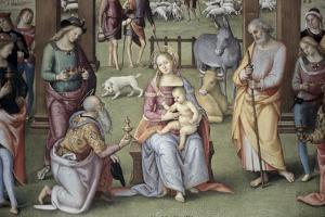The Epiphany - Adoration of the Magi by Pietro Perugino