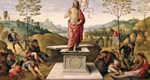 The Resurrection of Christ, from the Convent of San Pietro, Perugia, 1496-98 by Pietro Perugino