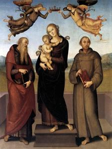 The Virgin of Loretto with Saint Jerome and Saint Francis, 1507-15 by Pietro Perugino