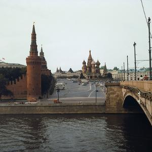 The Cathedral of St. Basil and the Walls of the Kremlin, Seen from the River Moscova, Moscow by Pietro Ronchetti