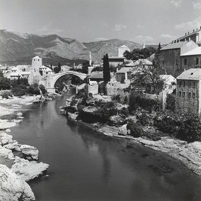 The City of Mostar with the Stari Most (Old Bridge), Bosnia Herzegovina by Pietro Ronchetti