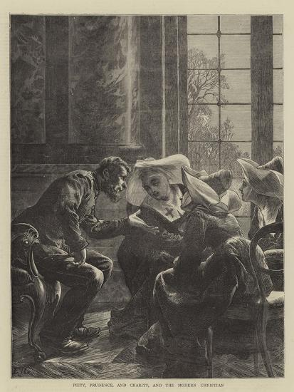 Piety, Prudence, and Charity, and the Modern Christian-Edward John Gregory-Giclee Print