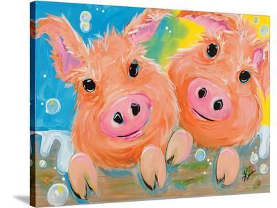 Pig Duo-Terri Einer-Stretched Canvas Print