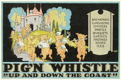 Pig'N Whistle Advertisement--Art Print