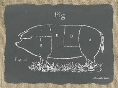 Pig on Burlap-Gwendolyn Babbitt-Art Print