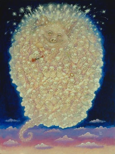 Pig's Heaven-Bill Bell-Giclee Print