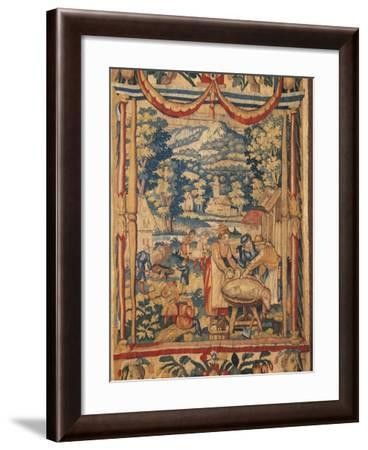 Pig Slaughtering, 16th Century--Framed Giclee Print
