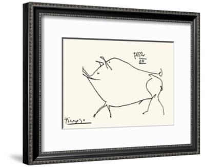 Pig-Pablo Picasso-Framed Serigraph