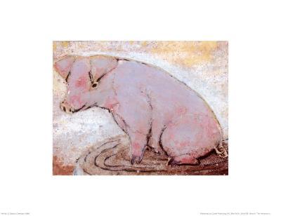 Pig-Silvana Crefcoeur-Art Print