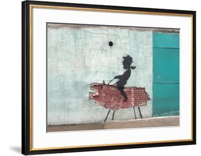 Pig-Banksy-Framed Giclee Print