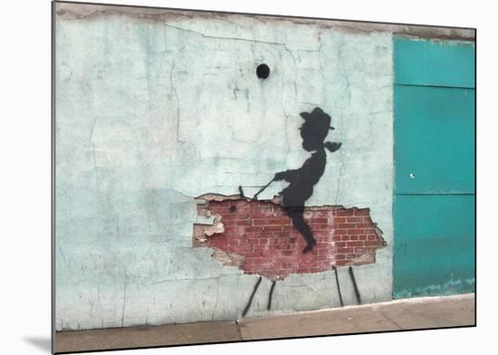 Pig-Banksy-Mounted Giclee Print