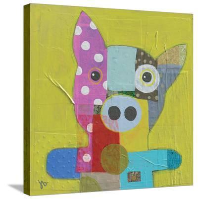 Pig-Julie Beyer-Stretched Canvas Print