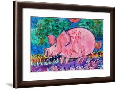 Pig-Brenda Brin Booker-Framed Giclee Print