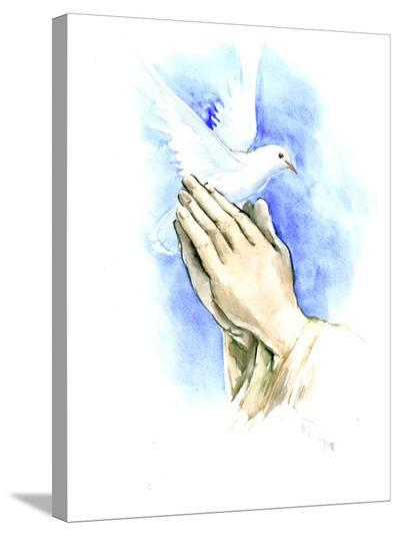Pigeon 1-Suren Nersisyan-Stretched Canvas Print