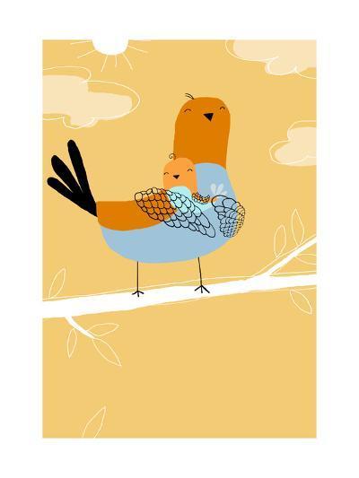Pigeon Bird Family--Art Print