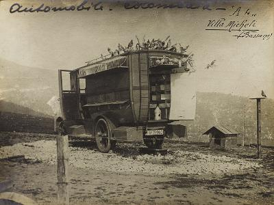 Pigeon Car Used During the First World War--Photographic Print