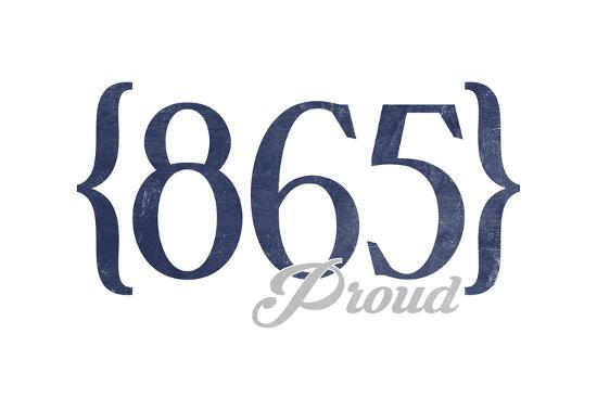 Pigeon Forge, Tennessee - 865 Area Code (Blue)-Lantern Press-Art Print