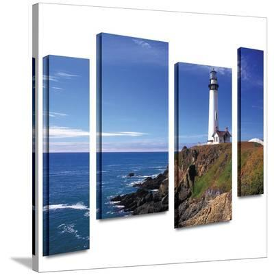Pigeon Point Lighthouse 4 piece gallery-wrapped canvas-Kathy Yates-Gallery Wrapped Canvas Set