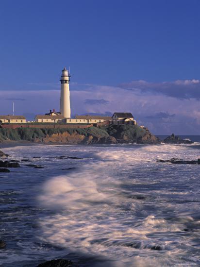Pigeon Point Lighthouse, California, USA-Walter Bibikow-Photographic Print