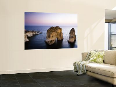 Pigeon Rocks (Also known as Raouche) at Dusk-Tim Barker-Wall Mural