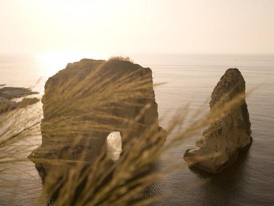 Pigeon Rocks, Beirut, Bayrut, Lebanon-Holger Leue-Photographic Print