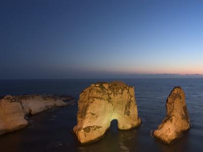 Pigeon Rocks (Rawcheh Rocks), Beirut, Lebanon, Middle East-Christian Kober-Photographic Print
