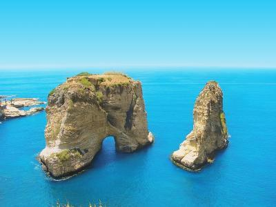 Pigeon Rocks - Symbol of Lebanon, Capital Beirut- dimmitrius-Photographic Print