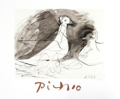 Pigeons-Pablo Picasso-Collectable Print
