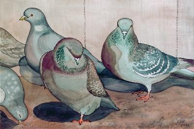 Pigeons-Carolyn Hubbard-Ford-Giclee Print