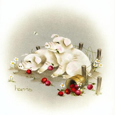 Piggin' Out-Peggy Harris-Giclee Print