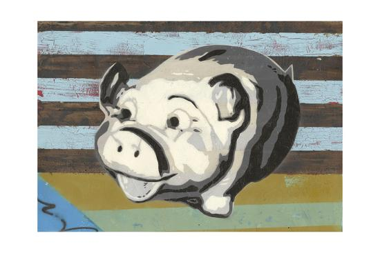 Piggy Bank-Urban Soule-Art Print