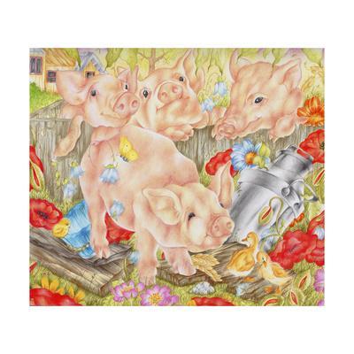 Piggy in the Middle-Karen Middleton-Giclee Print