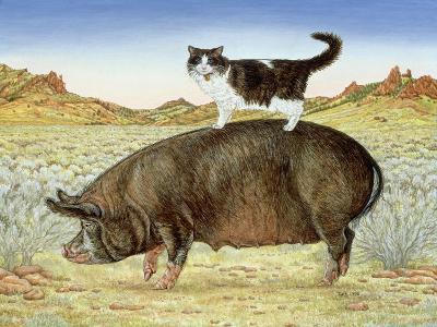 Piggyback-Riding at Breteche Creek, 1995-Ditz-Giclee Print