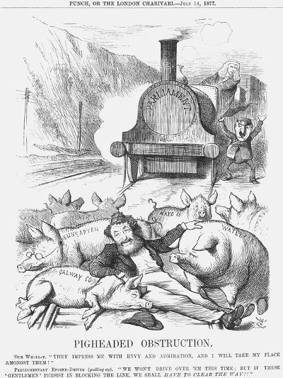 Pigheaded Obstruction, 1877-Joseph Swain-Giclee Print