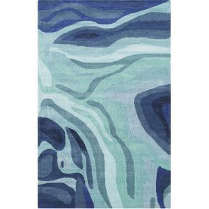 Pigments Area Rug - Teal/Iris 5' x 8'