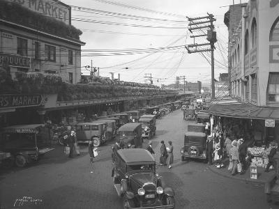 Pike Place Market, Seattle, WA, 1931-Ashael Curtis-Giclee Print