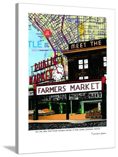 Pike Place Market Seattle--Stretched Canvas Print