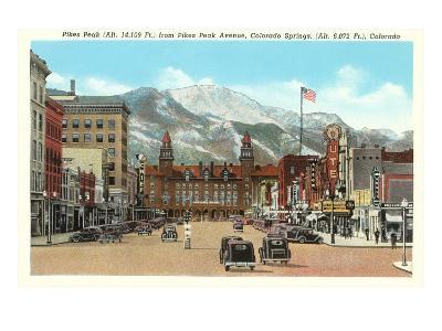 Pike's Peak, Colorado Springs, Colorado--Art Print