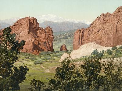 Pike's Peak, the Gateway to the Garden of the Gods, Colorado, 1900--Photographic Print