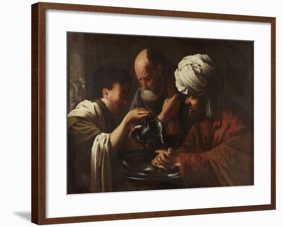 Pilate Washing His Hands, C.1615-1628-Hendrick Ter Brugghen-Framed Giclee Print