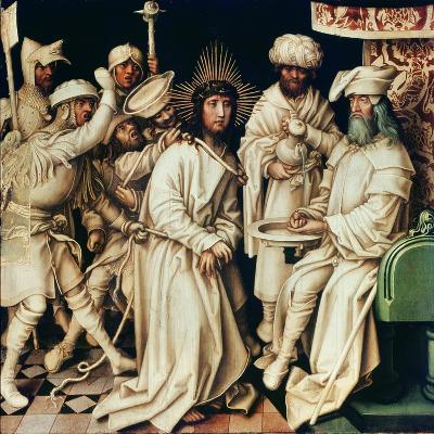 Pilate Washing His Hands, Left Panel from a Triptych, 1496-Hans Holbein the Elder-Giclee Print