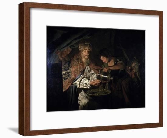 Pilate Washing His Hands-Matthias Stom-Framed Giclee Print