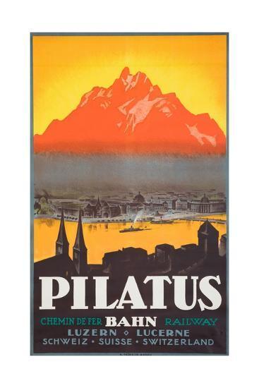 Pilatus Poster--Giclee Print
