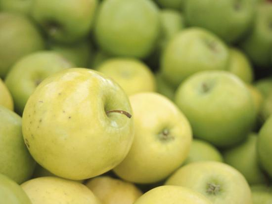Pile of Fresh and Delicious Green Apples--Photographic Print