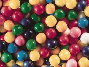 Pile of Multicolored and Colorful Pieces of Bubblegum Candy