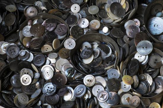 Pile of Old Buttons, New York City, New York, USA-Julien McRoberts-Photographic Print