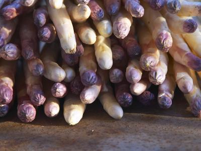 Pile of White Asparagus, Clos Des Iles, Le Brusc, Cote d'Azur, Var, France-Per Karlsson-Photographic Print