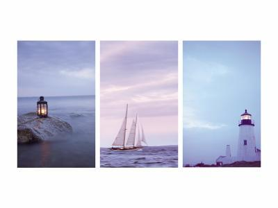 Pilgrim and Guides Triptych--Photo