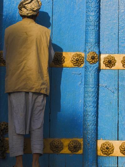Pilgrim at the Shrine of Hazrat Ali, Mazar-I-Sharif, Afghanistan-Jane Sweeney-Photographic Print